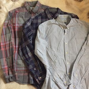 Bundle J Crew Goodfellow LS button down men shirts